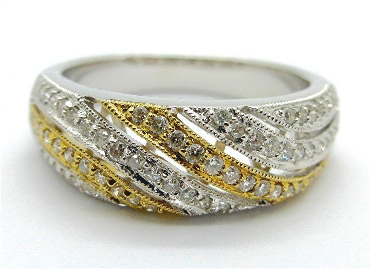 .38ct Diamond Two Toned Gold Ring