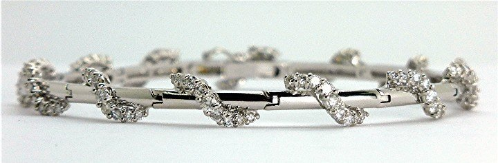 1.81ct Elegant Diamond 14K White Gold Bracelet