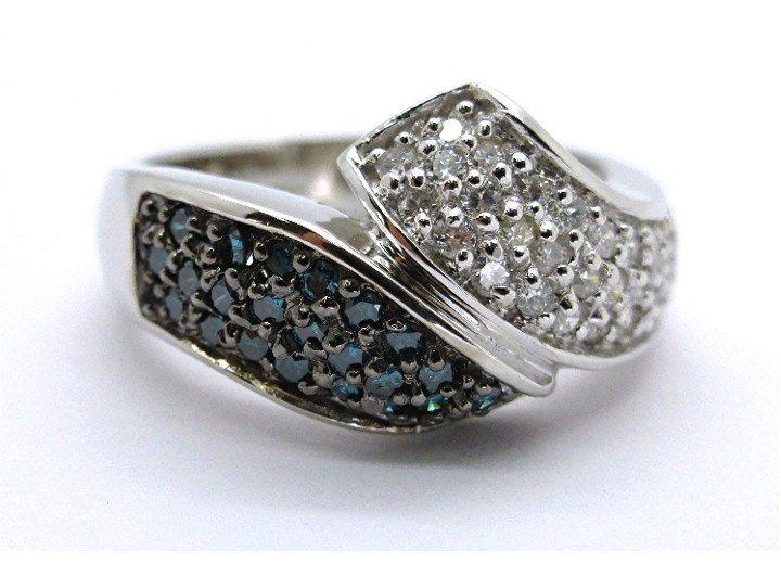 .54ct White and Blue Diamond 14k Ring