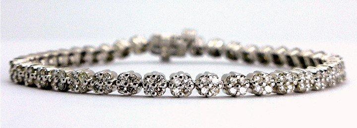 2.82ct Elegant Diamond 14K White Gold Tennis Bracelet