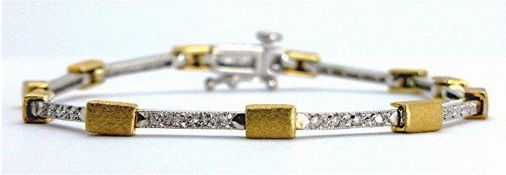 .40ct Stunning Diamond 14K Two Tone Tennis Bracelet