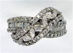 1.96ct Elegant Diamond 18K White Gold Ring