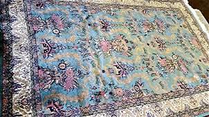 Persian Tabriz pattern Rug Indian hand woven 510 x 8