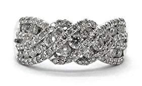 1.0ct Braided Diamond 14K White Gold Ring