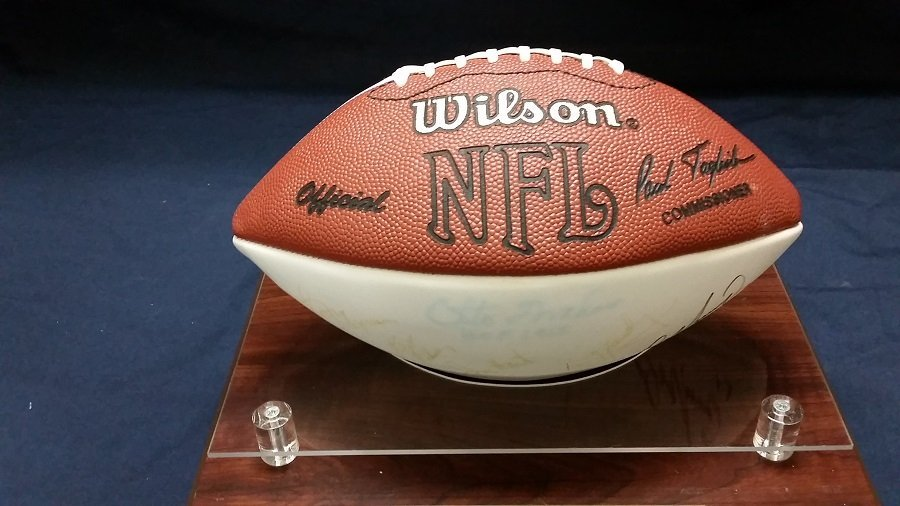 Signed Football Numerous Signatures