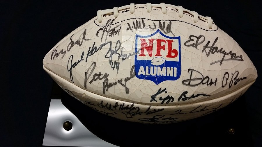 NFL Alumni Ball Signed 43 signatures