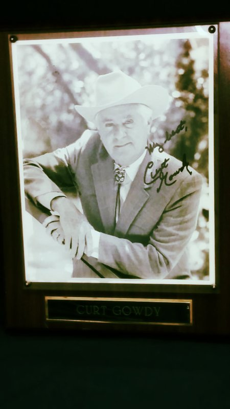Curt Gowdy  Signed Picture