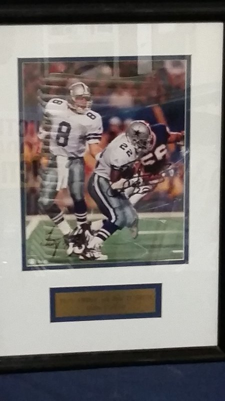 Signed Picture Dallas Cowboys