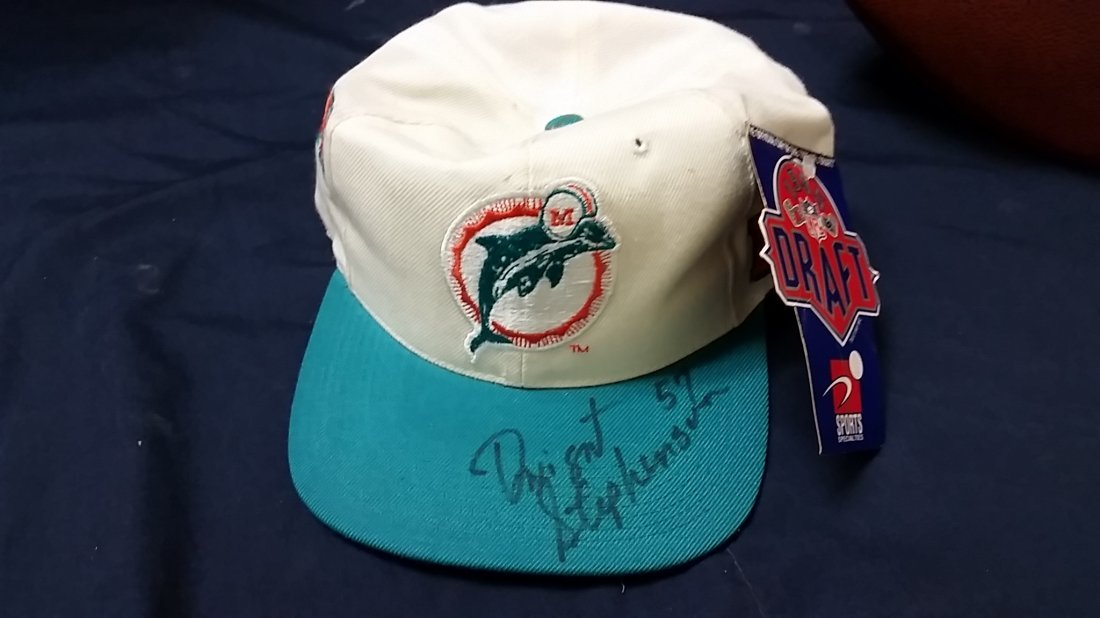 Signed Hat Miami Dolphins