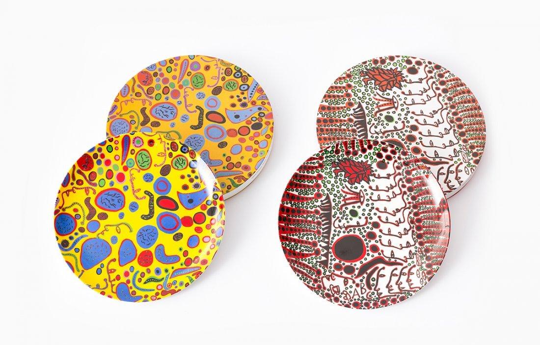 YAYOI KUSAMA,  Fine Bone China Plates
