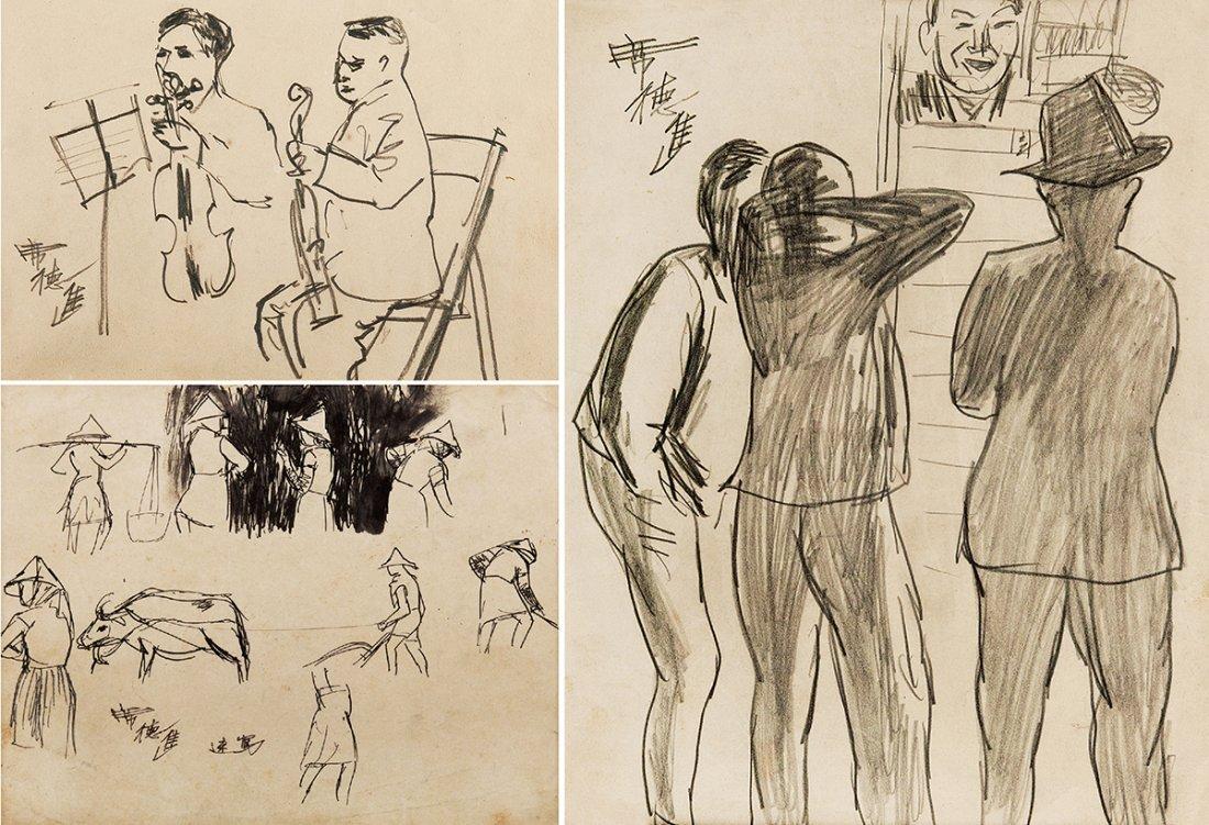 SHIY DE-JINN, Sketch Figures