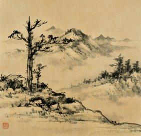 Huang Junbi, Misty Scenery In Autumn