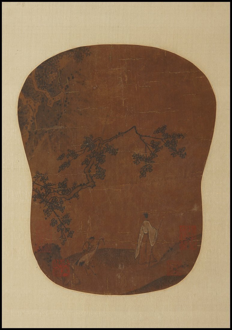 ANTIQUE CHINESE PAINTING团扇
