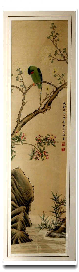 ANTIQUE CHINESE PAINTING折枝花&#40479
