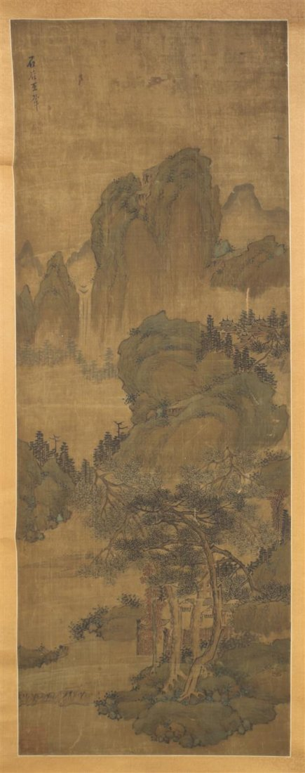 ANTIQUE CHINESE PAINTING98X37CM