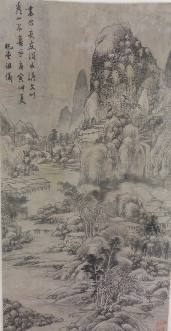 ANTIQUE CHINESE PAINTING84X44CM