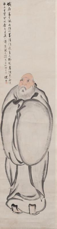 ANTIQUE CHINESE PAINTING132X32CM