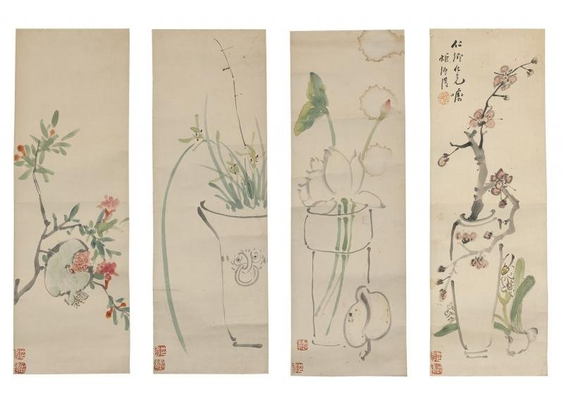 ANTIQUE CHINESE PAINTING60X20CM