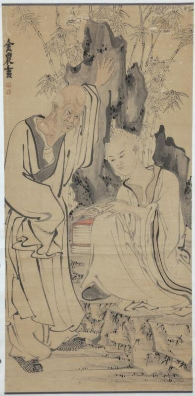 ANTIQUE CHINESE PAINTING65X132CM