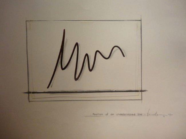 Bernar Venet ,Position of an Undetermined Line