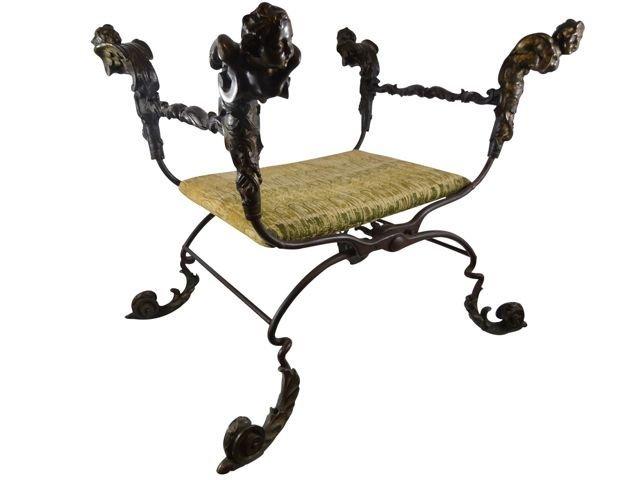 17th/18th C Venetian Bronze Cardinals Chair