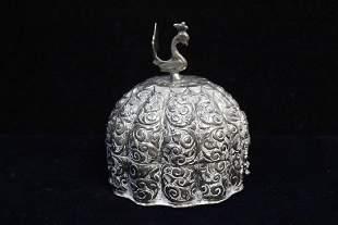 Indian Silver Box wBird Finial