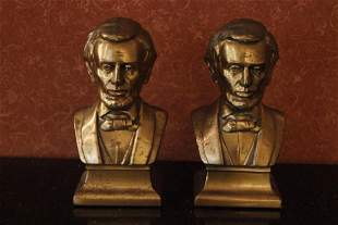 Pair of Abrahn Lincoln Bust Bookend