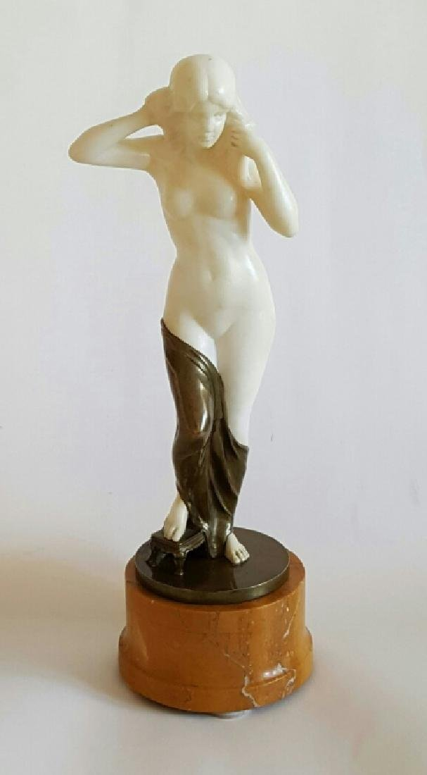 Fine Antique Bronze Marble Statue