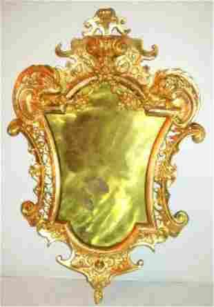 19thC Russian Gilt Bronze Mirror