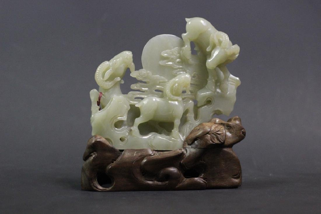 Chinese Jade Carved Sheeps