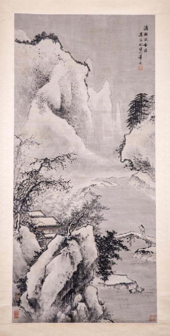 Chinese Ink Color Landscape Painting ,Signed