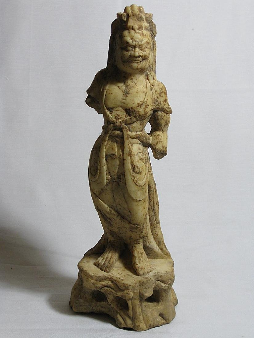 white marble carved of guardian,Tang Dynasty