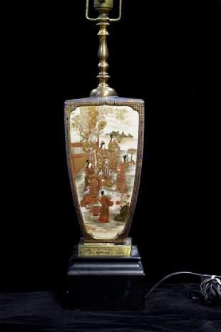 Japanese Porcelain Vase Lamp