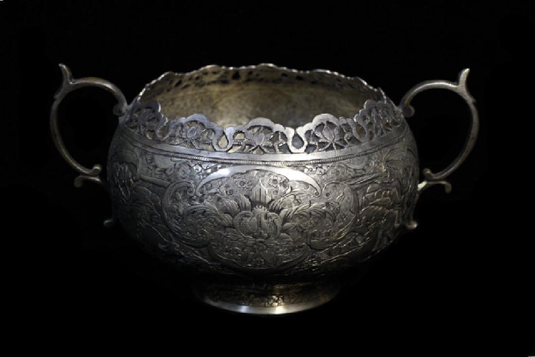 Persian Silver Sugar Bowl