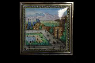 Silver Enamel Persian Box