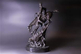 "Bronze Soldiers Statue, Mark ""Jrederic Remington"""