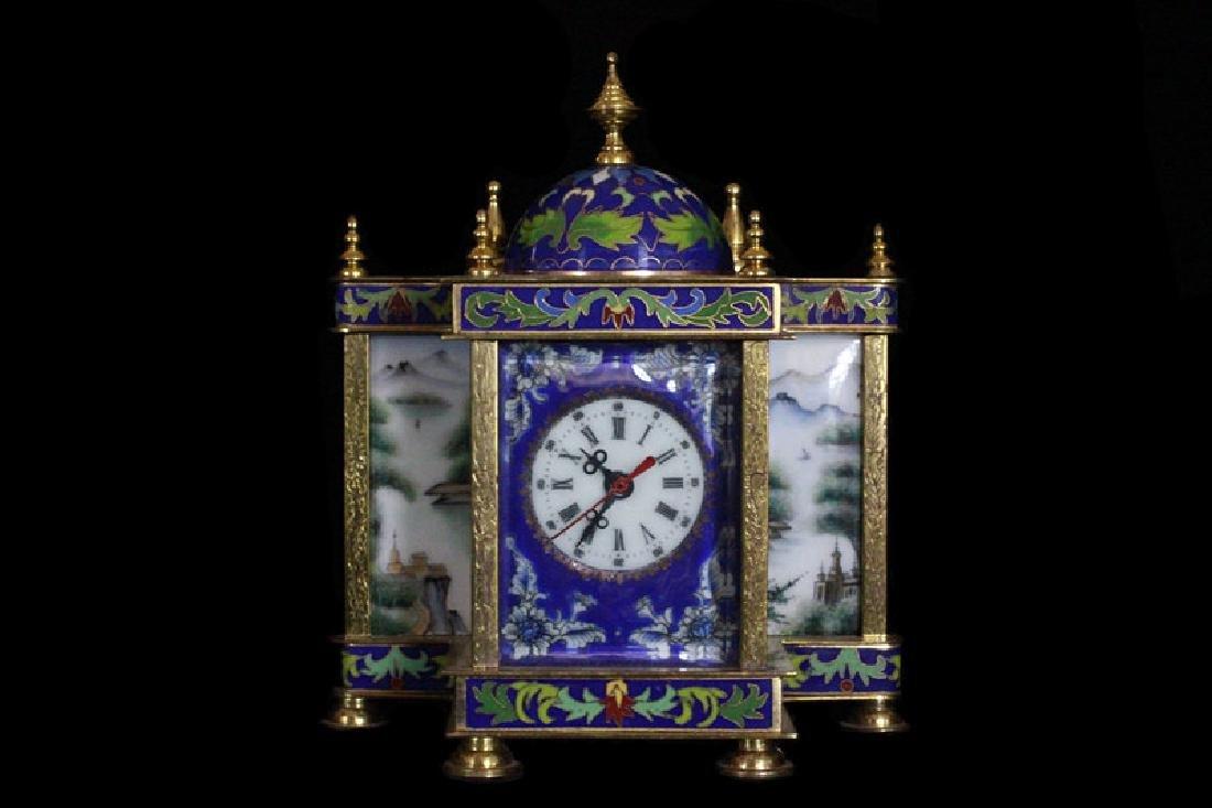 CH Enamel Clock