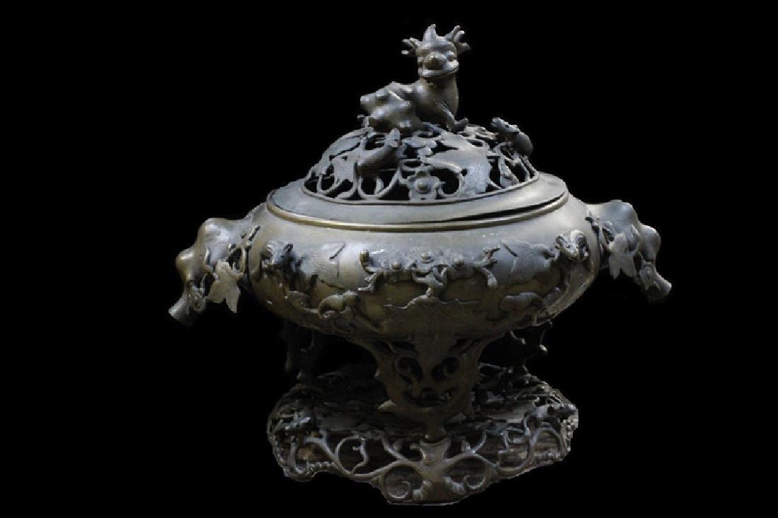 Large Asian Bronze Censer
