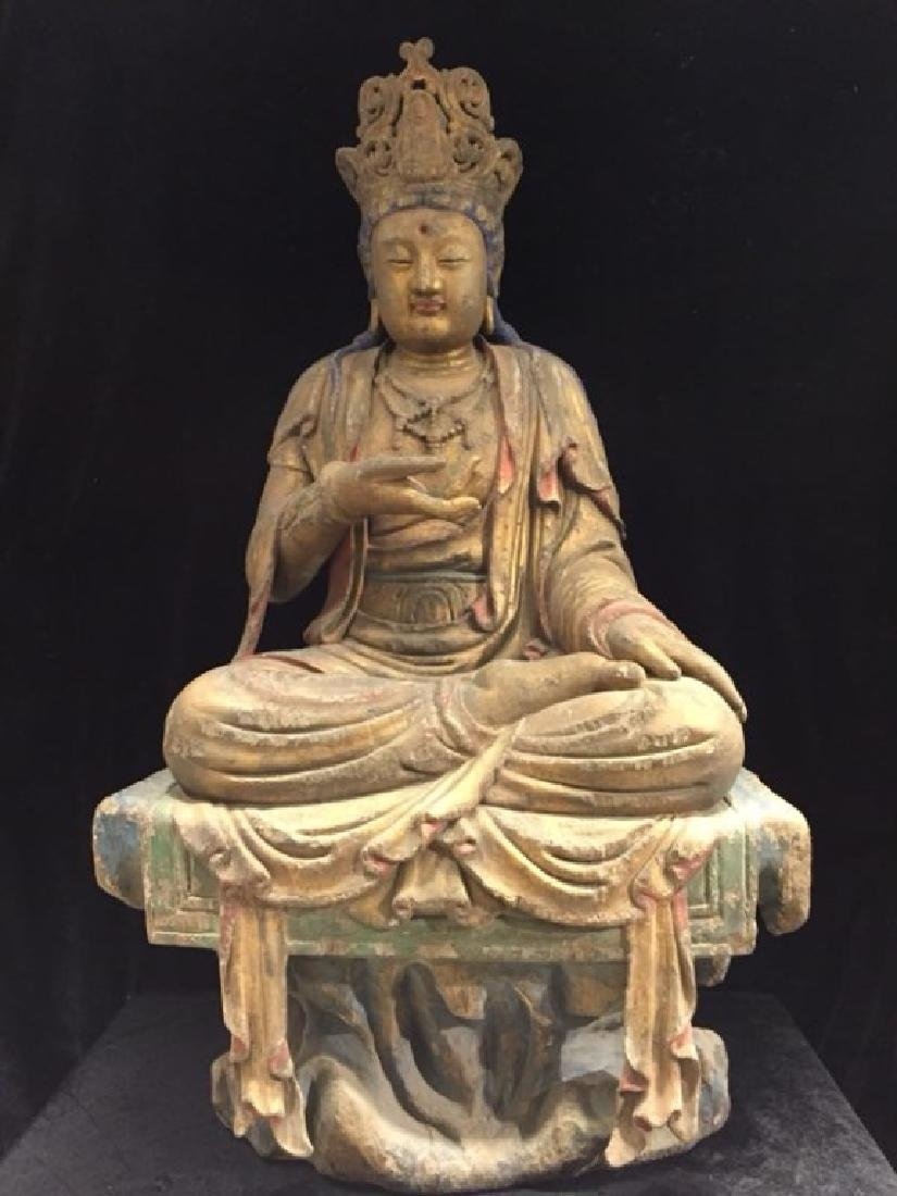 Chinese Wood Carved Buddha