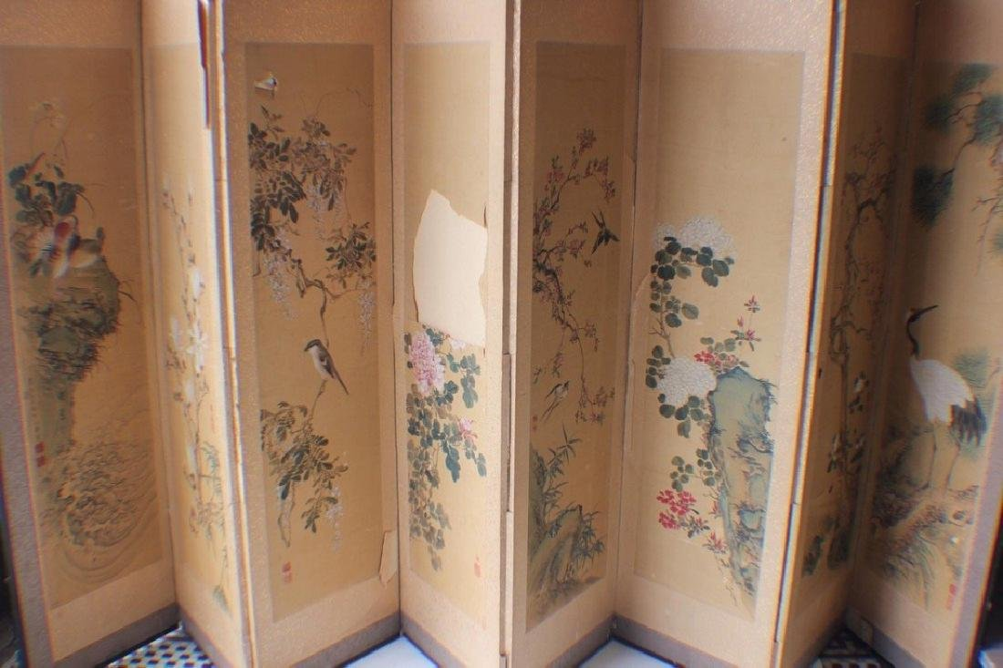 A Japanese Painting Screen