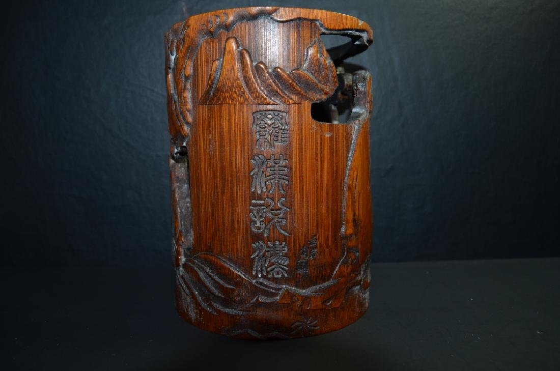 Chinese Antique Bamboo Carved BrushPot