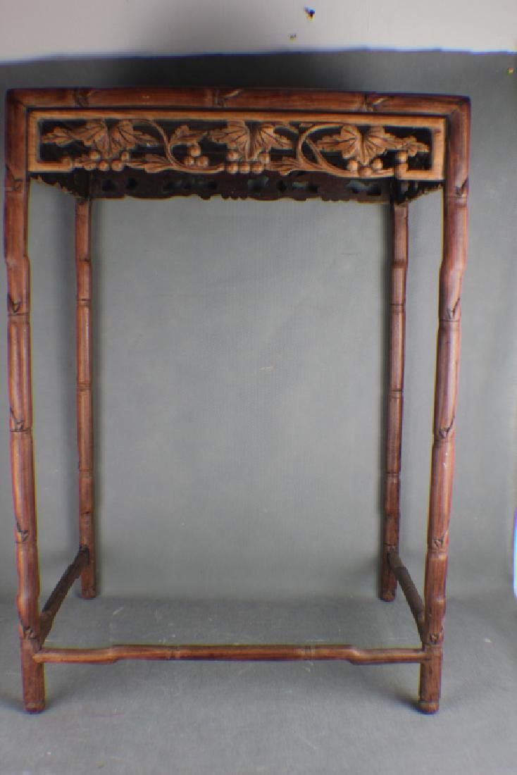 A Qing Dynasty Rose Wood  Tea Table