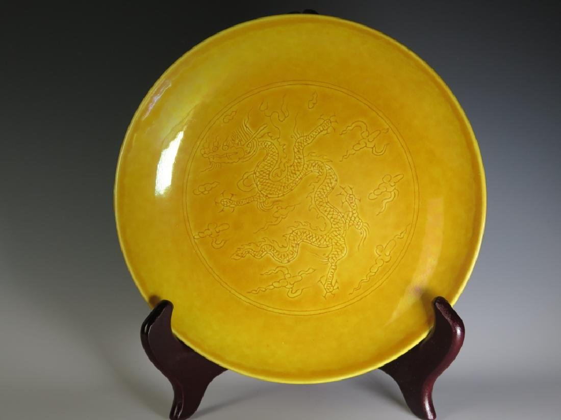 Chinese Yellow Glazed Plate