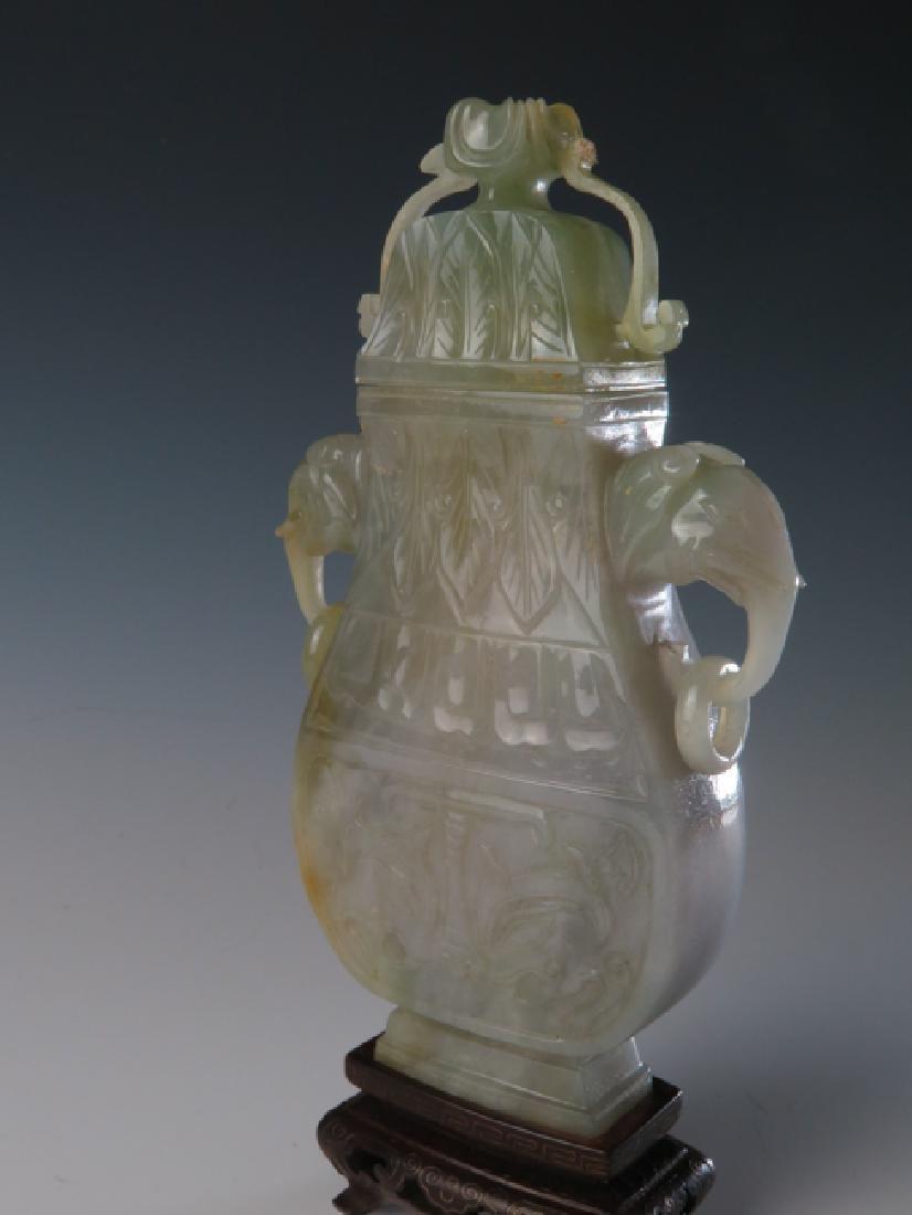 Chinese Jadeite Vase - 4