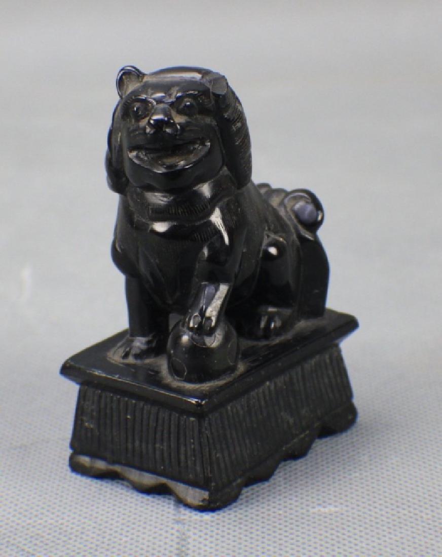 A Chinese Black Jade Seal
