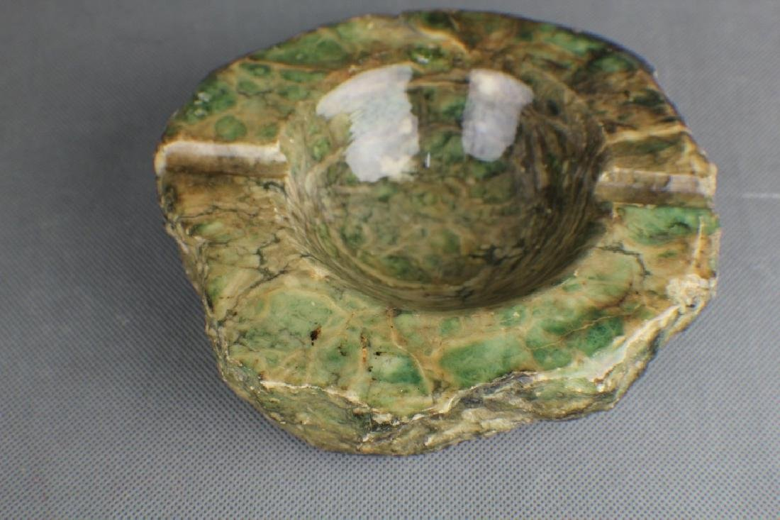 green stone Ashtray