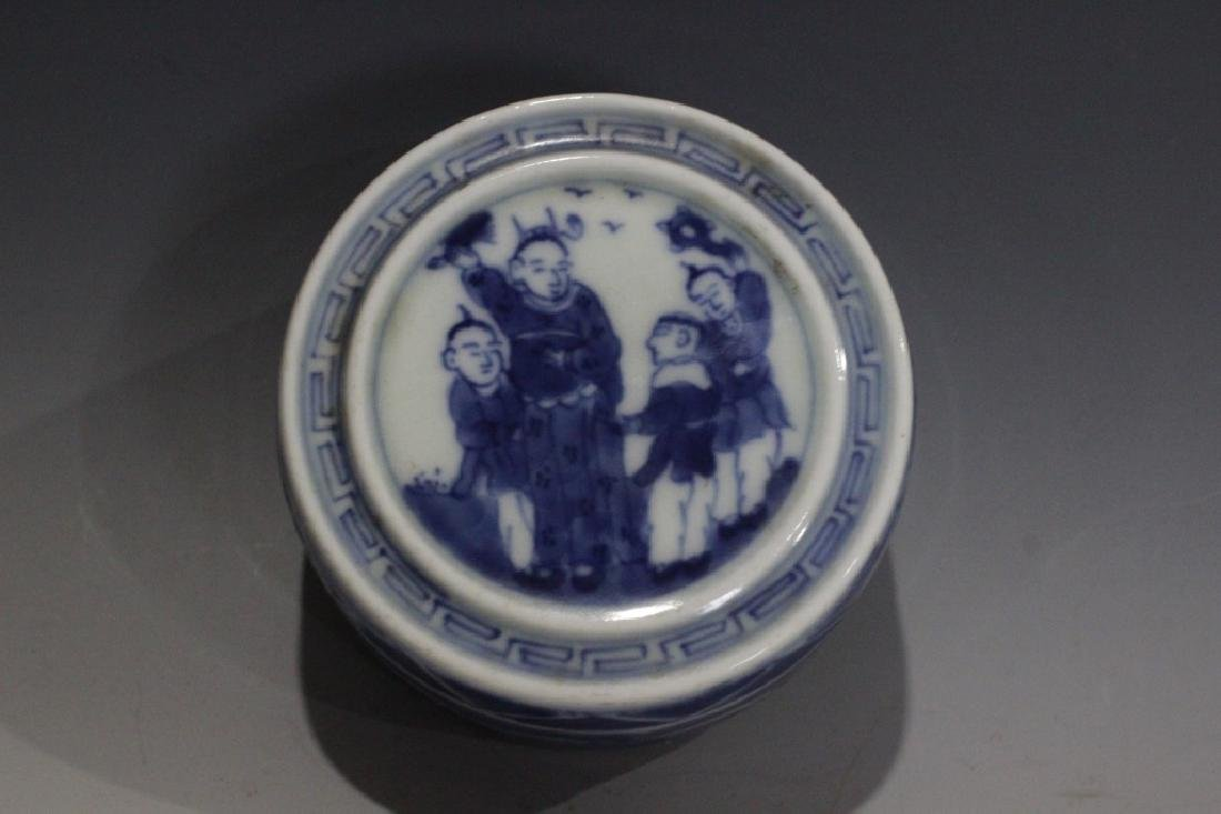 Chinese Blue and White Cover Box