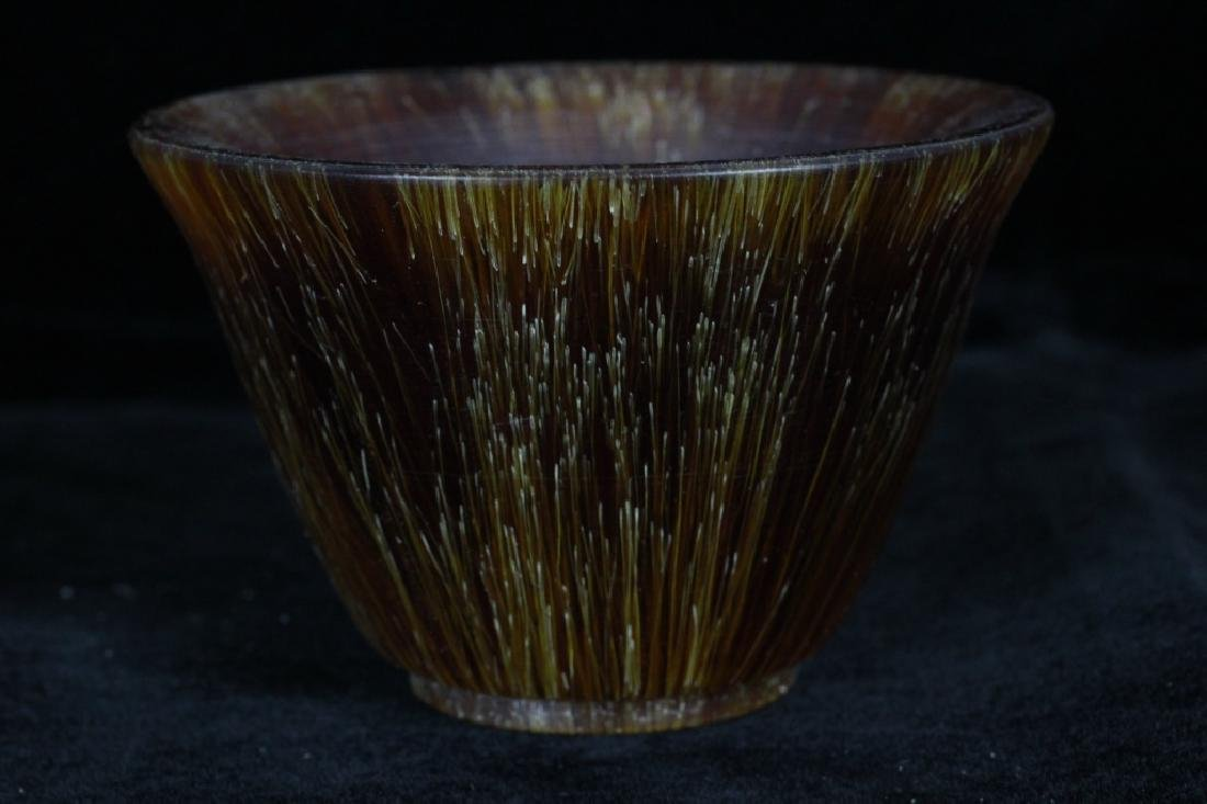 Chinese Horn Carved Cup