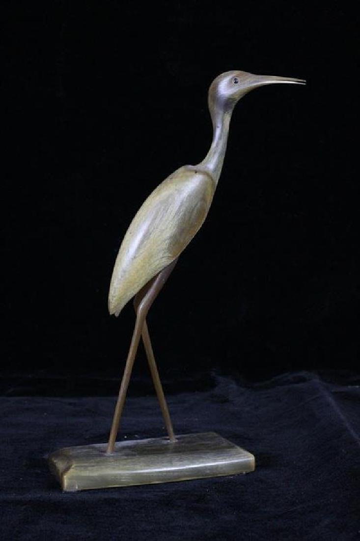 Chinese Horn Carved Crane