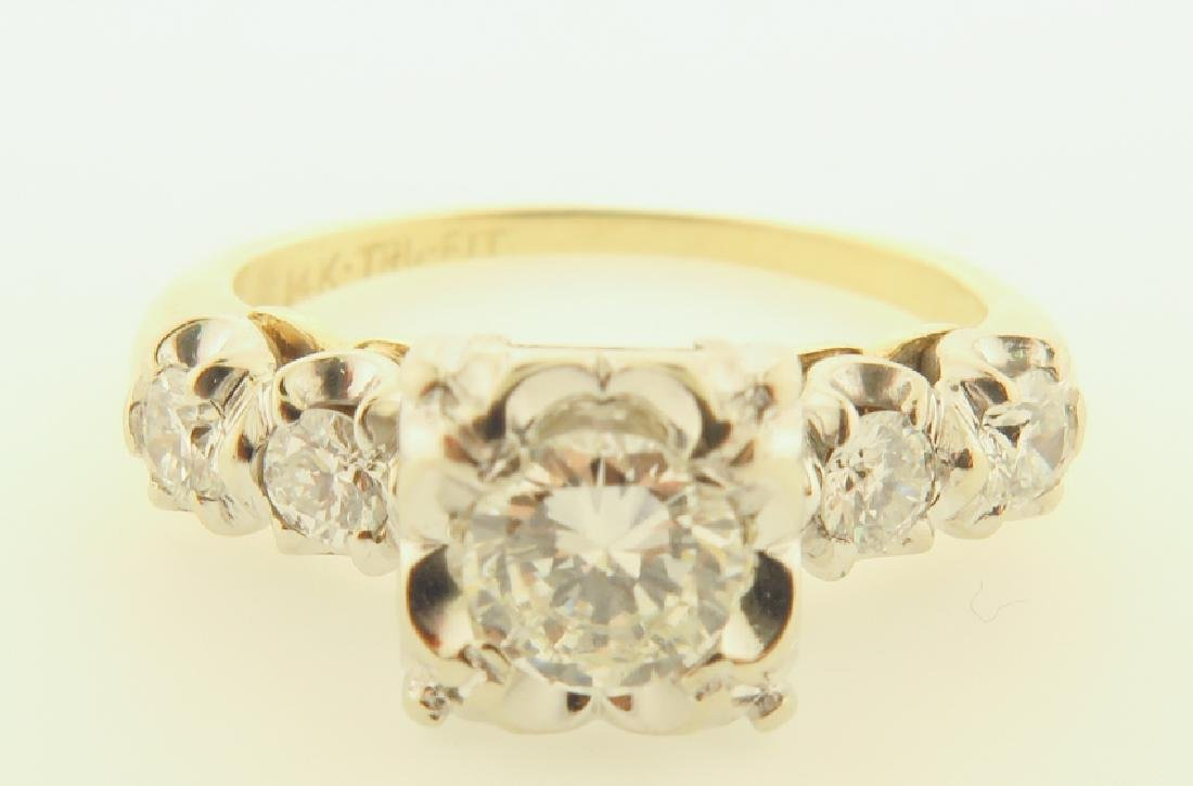 14k gold diamond ring - 7